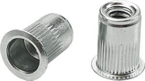 Swordfish 65783 - Round Type Nutserts Rivet Nut M5x0.8 Thread, Package of 50 Pieces