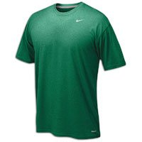 Mens Short Sleeve Practice Tee - Nike Men's Legend Short Sleeve Tee, Dark Green, M