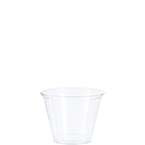 Solo Foodservice TP9R Cold Cup, 9 oz, Clear Squat ( Pack of 1000 (Squat Foam Cup)
