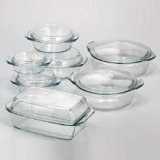 Simax Glassware 6026/6036 Round Casserole Pan with Lid, 2-Quart