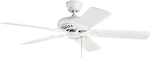 Kichler Lighting Kichler 339011MWH, Sutter Place Matte White 52 Ceiling Fan,