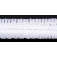 Darice 100-Piece Chenille Stems, 6mm by 12-Inch, White