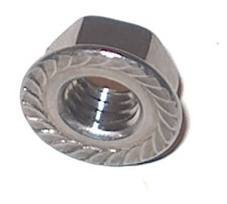 M6 Flange Nuts (10 PACK) 6mm Metric Thread A2 Grade Stainless Steel Serrated Flanged Nut. Free UK Delivery DBA Hardware