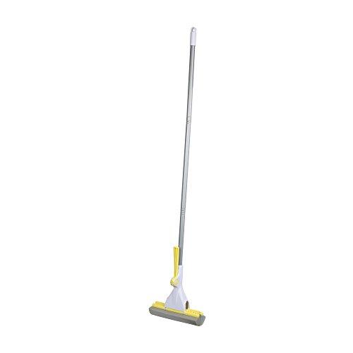 Casabella Basics Ratchet Roller Mop, Silver and Yellow
