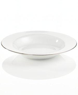 Charter Club Dinnerware, Grand Buffet Platinum Fine Line Rim Soup Bowl