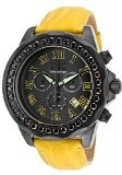 Invicta Grand Diver Chronograph Black Dial Yellow Leather Mens Watch (Invicta Grand Diver Chronograph)