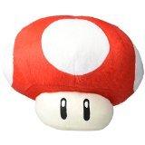 MoralBelief Super Mario Brothers Red Mushroom 8-inch Plush (Mario Stuffed Animals Mushrooms)