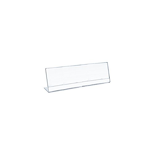 Azar 112761 8.5-Inch Width by 3.5-Inch Height Horizontal Nameplate Acrylic Sign Holder, 10-Pack (Nameplate Desk Holder)