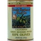 Santa Barbara Pitted Cal Green Olives 6 oz. (Pack of 12)