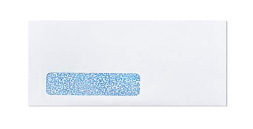 #10 Window Business Envelopes Security-Tinted, Laser-Safe, Self-Seal Bright White Paper Envelopes for Checks, Invoices, Letters, QuickBooks & More | Won't Melt When You Print! | 500 Count (10 - Envelopes Business Laser