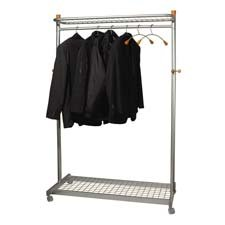 - ABAPMLUX6 - Alba Practical Chrome Coat Rack