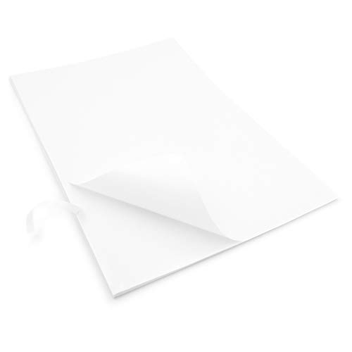 EVG Home & Office Supplies 20 x Easy Peel Crack Back Self Adhesive A4 Blank White Sheets Customisable White Sheet Sticker Label Printing Paper Sheet