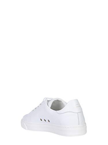 Blanco Cuero Zapatillas Aw180237002 Anya Hindmarch Mujer w07qggtP