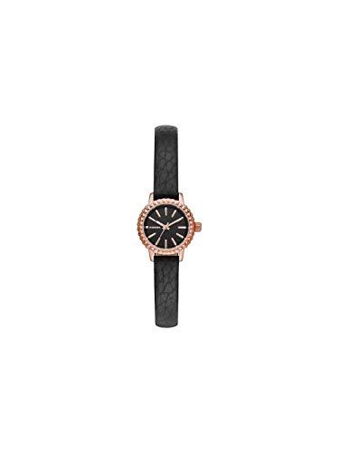 (Diesel Women's Opulence Mini Quartz Stainless Steel and Leather, Color: Rose Gold-Tone, Black (Model: DZ5498) )