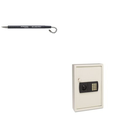 KITMMF20101MMF28704 - Value Kit - MMF Electronic Key Safe (MMF20101) and MMF Secure-A-Pen Replacement Ballpoint Counter Pen (MMF28704)