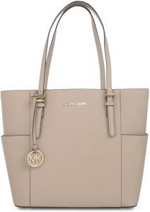MICHAEL Michael Kors Jet Set Large Tote (Oyster) by Michael Kors