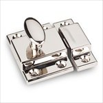 Jeffrey Alexander CL101 Mechanical Cabinet Latch and Strikeplate, Polished Nickel