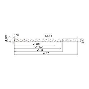 PART NO ALTiN Coating Solid Carbide Internal Coolant Drill 15XD MWS Series MBH356533 9//64 Mitsubishi MWS01406X15DB
