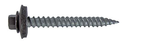 Brown Metal Roofing Screw: (250) 12 x 1-1/2