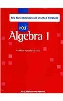 Holt Algebra 1: Homework and Practice Workbook (Holt Rinehart And Winston Algebra 1 Worksheets)