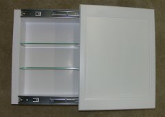 High Quality (SD 118) 18u0026quot;h Sliding Door Medicine Storage Cabinet, 3.5u0026quot;