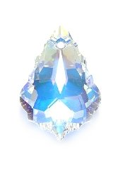 Swarovski 6090 Baroque Pendants, Aurora Borealis, Crystal, 15 by 22mm, 2 Per Pack