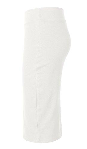 Elegante Mujer Falda Cintura alta Bodycon Blanco