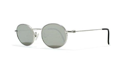 Burberrys B8829 YB7 Silver Flat Lens Vintage Sunglasses Round For Mens and - Burberry Sunglasses Vintage