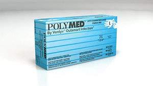 Ventyv Polymed Latex Exam Glove, Large (8-8.5) PM104 by Ventyv (Image #1)
