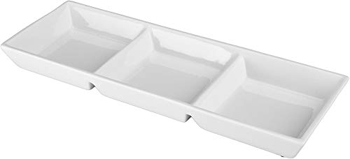 Two Section Server - 3 - Section Condiment Server [Set of 2]