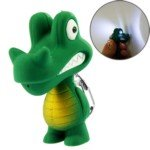 Crocodile Decoration with LED Flashlight and Sound Effects Keychain Chain for Bag Key