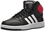 adidas Men's VS Hoops Mid 2.0, Core Black/White/Scarlet, 10.5 M US