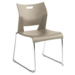 Duet Stacking (Global Duet Series Stacking Chair, Polypropylend, Beige, 4 Chairs/Carton)