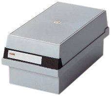 Han 966-11 Card Index Box for 800 Index Cards A6 Plastic Light Grey OfficeLand