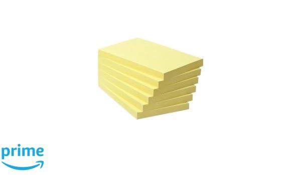 Notas adhesivas 76 x 127 mm, torre de 6 blocs Post-it 655-1B BP2 color amarillo