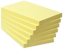 Post-it Brand 21860 Box da 6 Blocchetti, Carta Riciclata al 100%, 127 mm x 76 mm, Multicolore 3M 655-1GB