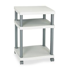 * Wave Design Printer Stand, 3-Shelf, 20w x 17-1/2d x 29-1/4h, Charcoal