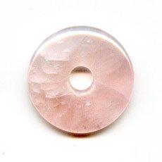 Donuts 25 mm Cuarzo Rosa x1