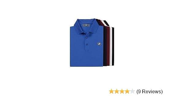 BMW Genuine Logo Men/'s Tech Polo Shirt//Navy Blue S
