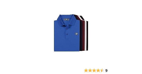 BMW Genuine Logo Men/'s Tech Polo Shirt//Black S