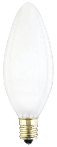 Westinghouse Lighting 4024 40-Watt B 9-1/2 Decorative Ceiling Fan Bulb, Candelabra Base, Frosted, ()