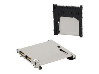 - DM Series 9 Position Board Mounting 2.5 mm SMD SD Memory Card, Pack of 100 (DM1AA-SF-PEJ)