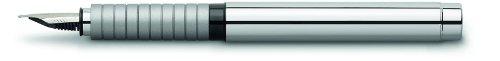 Faber-Castell Basic Metal Fountain Pen (Silver Cap) (Medium)