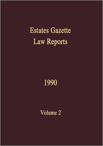 EGLR 1990 (Estates Gazette Law Reports) (Volume 2)