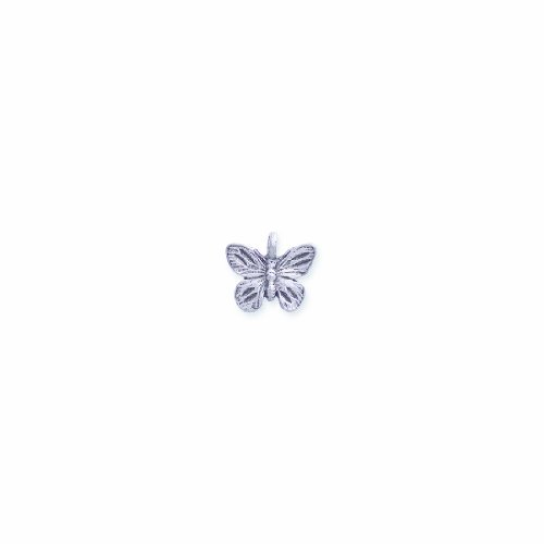 Shipwreck Beads Pewter Butterfly Charm, Silver, 14 by 15mm, 6-Piece (Charm Butterfly Pewter)