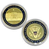 (Donald Trump Challenge Coin, Gold Plated Collection Coins, Seal of The President Commemorative Gift (1 Pack))