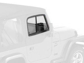 Price comparison product image Bestop 51787-35 Black Diamond Upper Door Slider Set for 1997-2006 Wrangler TJ - Front