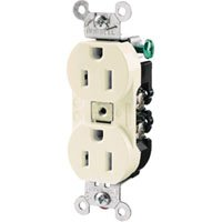 BRYANT ELECTRICAL PRODUCTS HUBW CR15I 15A125V IVORY RECPT