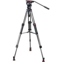 Sachtler FSB-6 Carbon Tripod System with FSB-6 Fluid Head, 2-Stage Tripod, Mid-Level Spreader and Padded Case, Supports 13.2 lbs by Sachtler