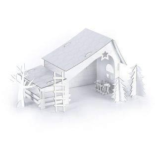 Peachy Amazon Com Graine Creative Cardboard Christmas Crib To Ibusinesslaw Wood Chair Design Ideas Ibusinesslaworg